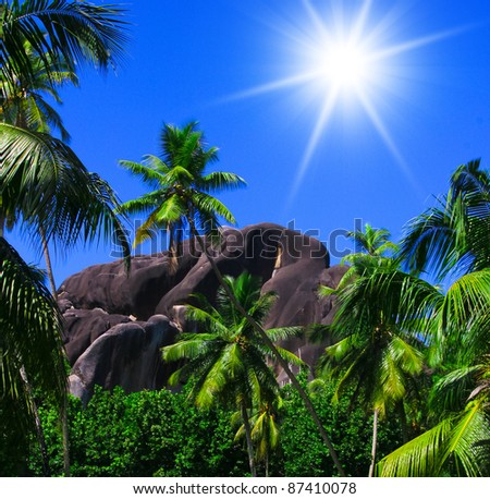 On a Sunny Day Climbing to the Sky - stock photo