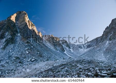 On a trip in Fagaras mountains, Romania - stock photo