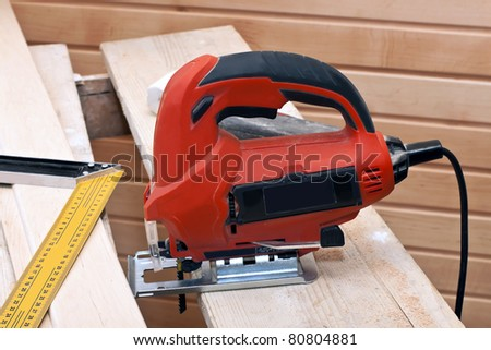 on a workplace carpenter - stock photo