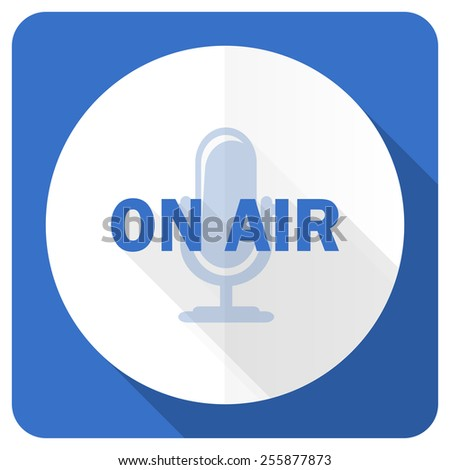 on air blue flat icon   - stock photo