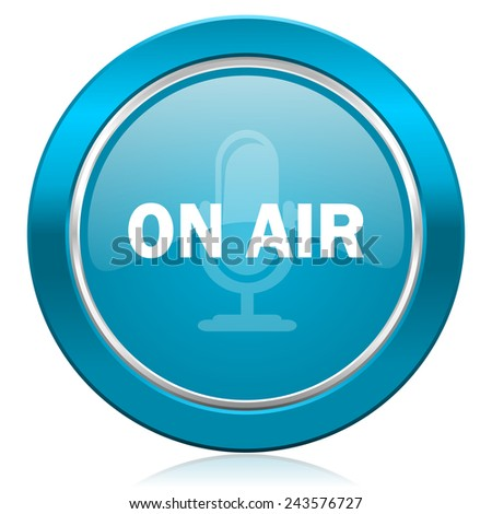 on air blue icon   - stock photo
