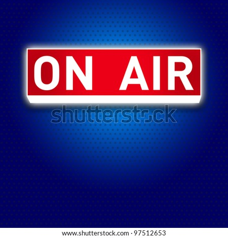 On Air warning message - stock photo