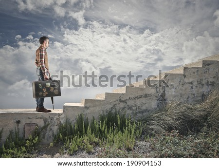 on an adventure - stock photo
