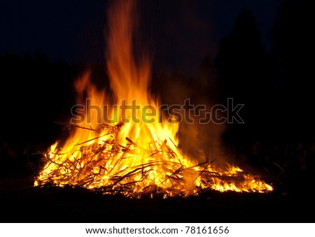 on fire. - stock photo