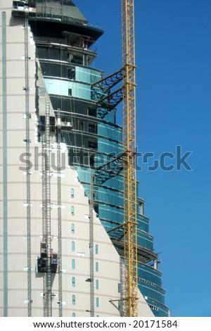 on going construction in dubai, united arab emirates - stock photo