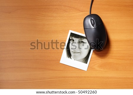 on-line dating - stock photo
