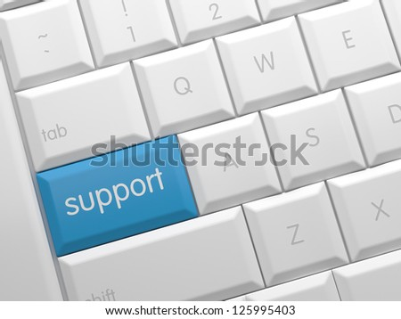 On line Support - stock photo