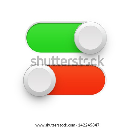 On off switch - stock photo