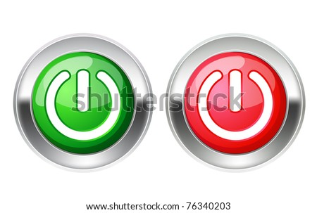On off switch. Raster version. - stock photo
