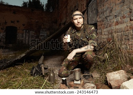 On patrol - stock photo