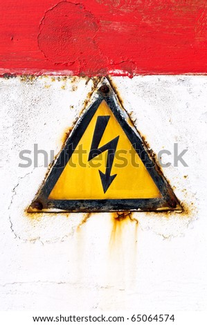on rusty background - stock photo