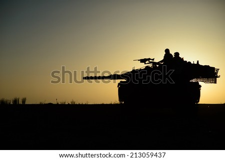 On the guard - stock photo