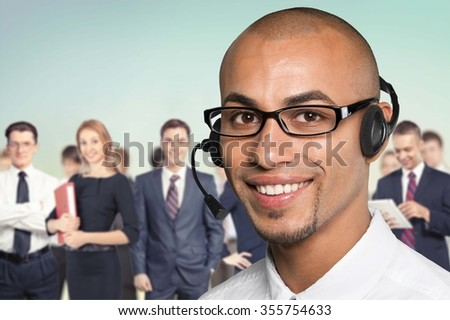 On The Phone. - stock photo