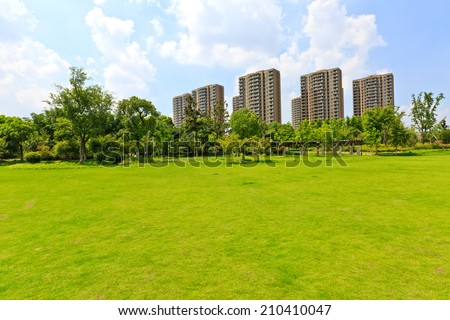 On the suburban of modern living environment  - stock photo