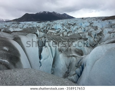 On the Viedma Glacier in Argentina - stock photo