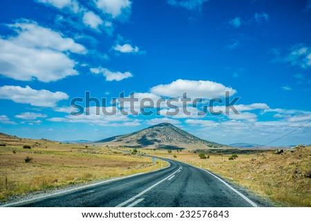 On the way to Ihlara Valley - stock photo