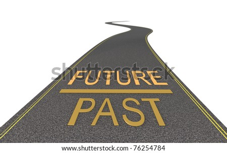 On the way to the future - stock photo