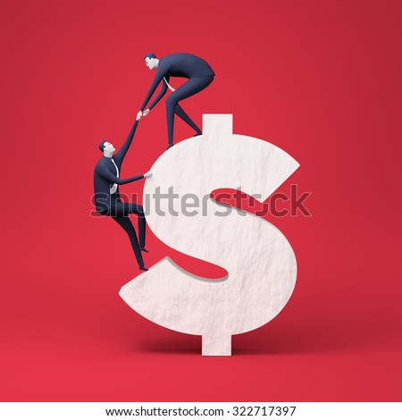 On top. Rendered business illustration - stock photo