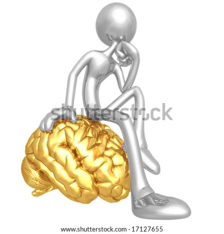 On Your Mind Thinker - stock photo