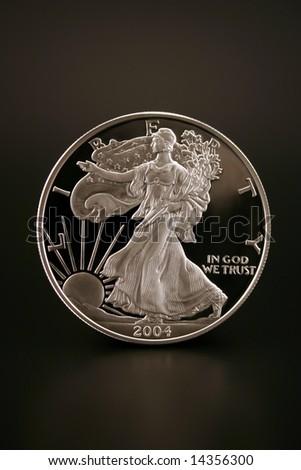 One American Eagle Silver Bullion Coin (legal tender) - stock photo