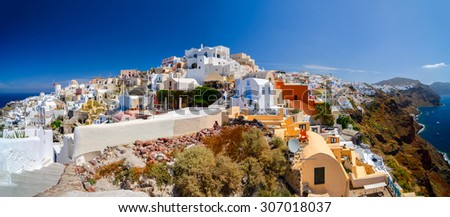 One and only, Santorini - stock photo