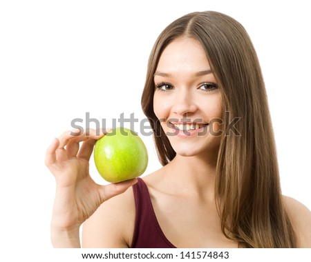 One apple a day keeps the doctor away - stock photo