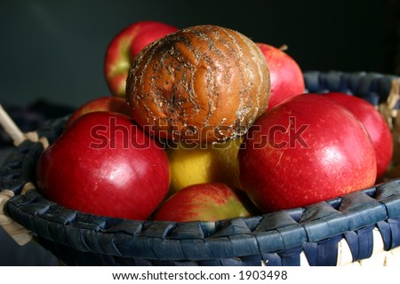 One Bad Apple - concept image - stock photo