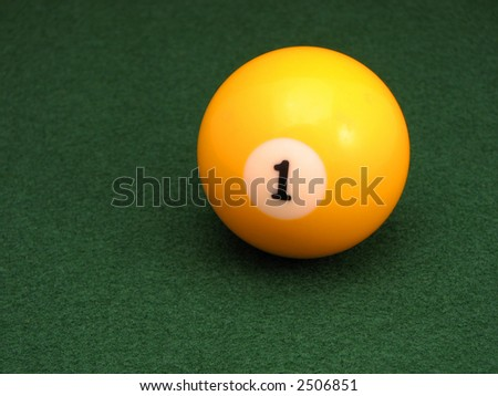 One Ball - stock photo