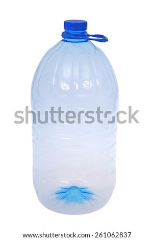 One big bottle of water isolated on a white. Clipping path included. - stock photo