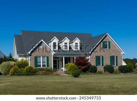 One big great house - stock photo