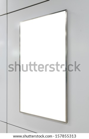 One big vertical / portrait orientation blank billboard - stock photo