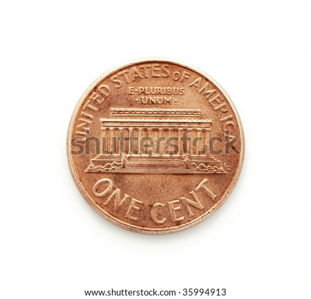 One cent dollar coin - stock photo