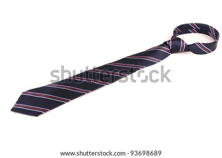 one cravat on the white background - stock photo
