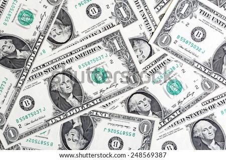One Dollars background (money background - American dollars ) - stock photo