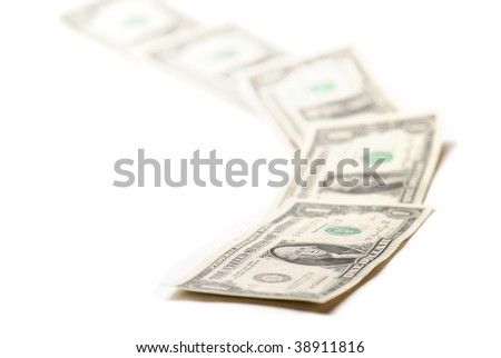 one dollars endless way - stock photo