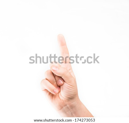 One finger - stock photo
