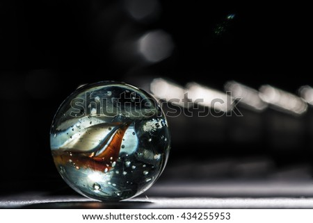 One glass marble  - stock photo