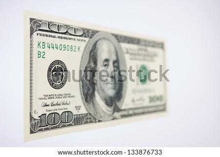 One Hundred Dollar Bill - stock photo
