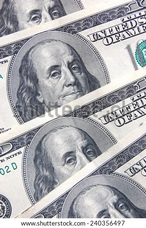 One hundred dollars as background  - stock photo