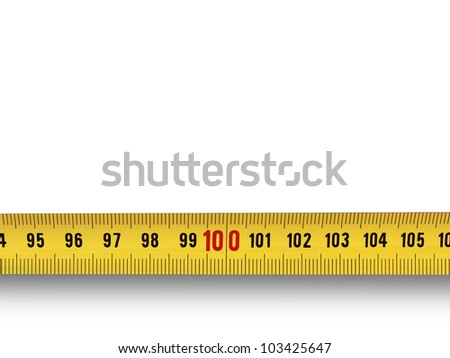 one hundred isolated - stock photo