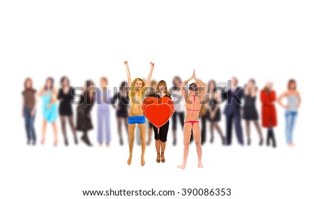 One Individual From a Crowd  - stock photo