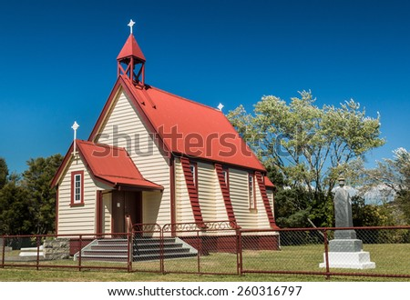 One New Zealand small town church building. Built to Last many years. - stock photo