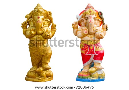 One of most supreme god in Indian culture, Ganesh, god of success - stock photo