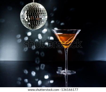 One of the best, finest and oldest cocktails. A really classic cocktail. The Manhattan was the first cocktail that ever used vermouth. - stock photo