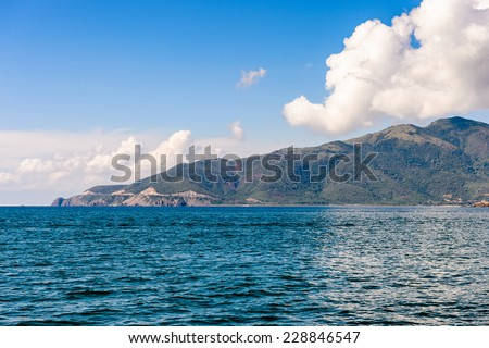 One of the islands near Nha Trang in the South China Sea in Vietnam - stock photo