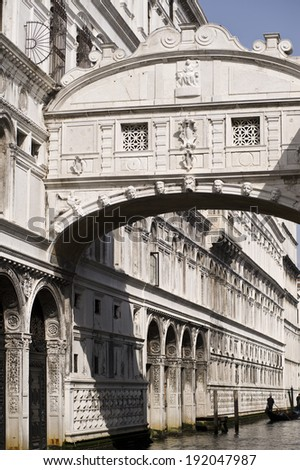 One of the many icons of Venice. The bridge of sighs (Ponte dei Sospiri) - stock photo