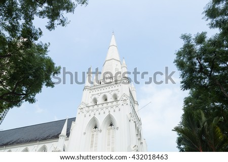 One of the many places of worship in Singapore - stock photo