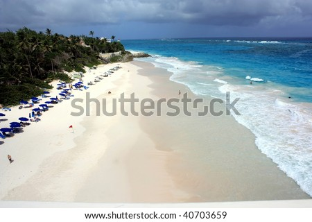one of the most beautiful white sandy beach in the world - stock photo