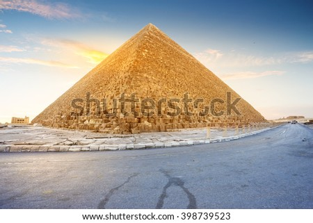 one of the pyramids  in Cairo, Egypt                          - stock photo
