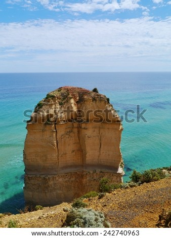 One of the twelve apostles at the Great Ocean road in Victoria in Australia  - stock photo